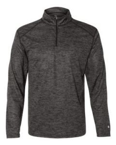 Badger Sport Tonal Blend Quarter Zip Pullover TShirt