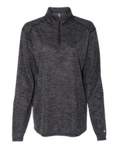 Badger Sport Womenaposs Tonal Blend Quarter Zip Pullover TShirt