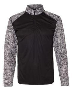 Badger Sport Blend Quarter Zip Pullover TShirt
