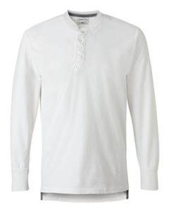 J America Vintage Brushed Jersey Henley Shirt