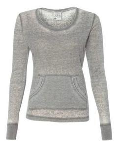J America Ladiesapos Vintage Zen Thermal Long Sleeve TShirt