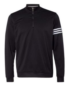 Adidas ClimaLite 3 Stripes French Terry Quarter Zip Pullover