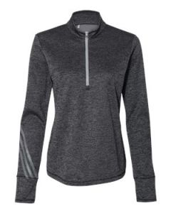 Adidas Womenaposs Brushed Terry Heathered Quarter Zip Pullover