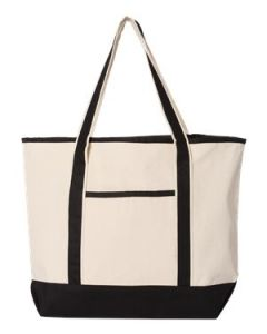 QTees 35L Large Canvas Deluxe Tote Bag