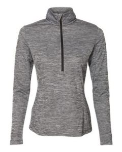Russell Athletic Womenaposs Striated Quarter Zip Pullover Shirt